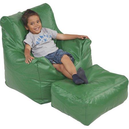 Ecr4kids Bean Bag Chair And Ottoman Set Multiple Colors