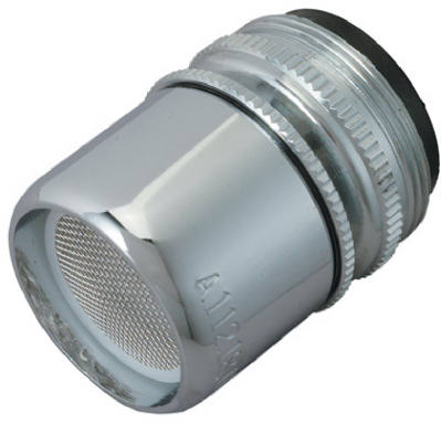 Faucet Aerator, Swivel, Chrome-Plated Brass, Dual Thread, 55/64 & 15/16-In. x 27-Thread