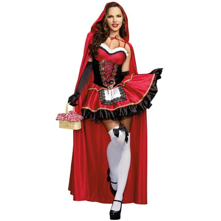Sexy Little Red Riding Hood Dress - Medium (6-10) - Little Red Riding Hood Costume Infant
