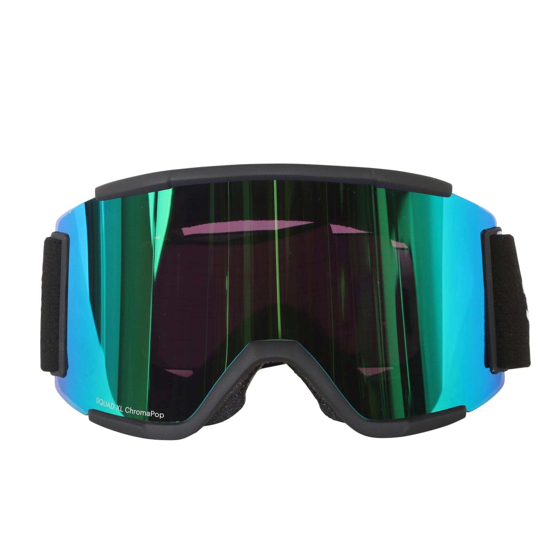 Smith Optics Black ChromaPop Sun Squad XL Interchangeable Snow Goggles by Smith Optics
