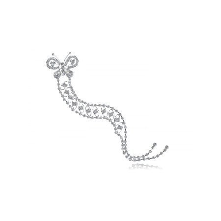 Elegant Classy Style Clear Sparkly Crystal Rhinestone Butterfly Women's Bracelet