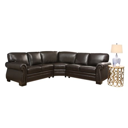 Devon Claire Del Rey Right Facing Dark Brown Sectional