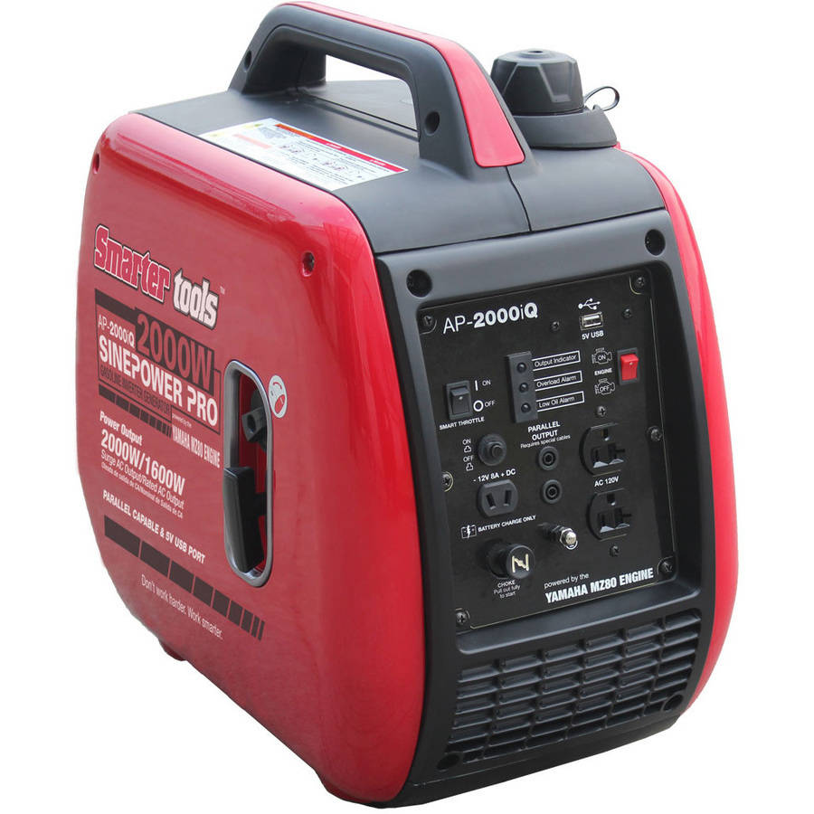Smarter Tools 2000W Parallel Capable Inverter Generator with Yamaha Engine