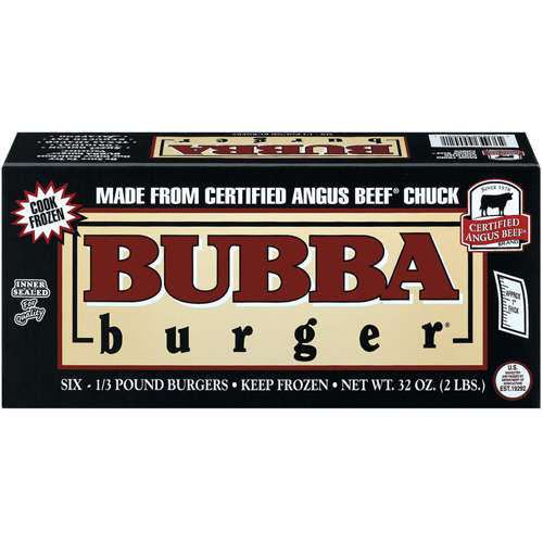 Bubba Burger: Certified Angus Beef Uncooked 6 Ct Burgers, 32 oz