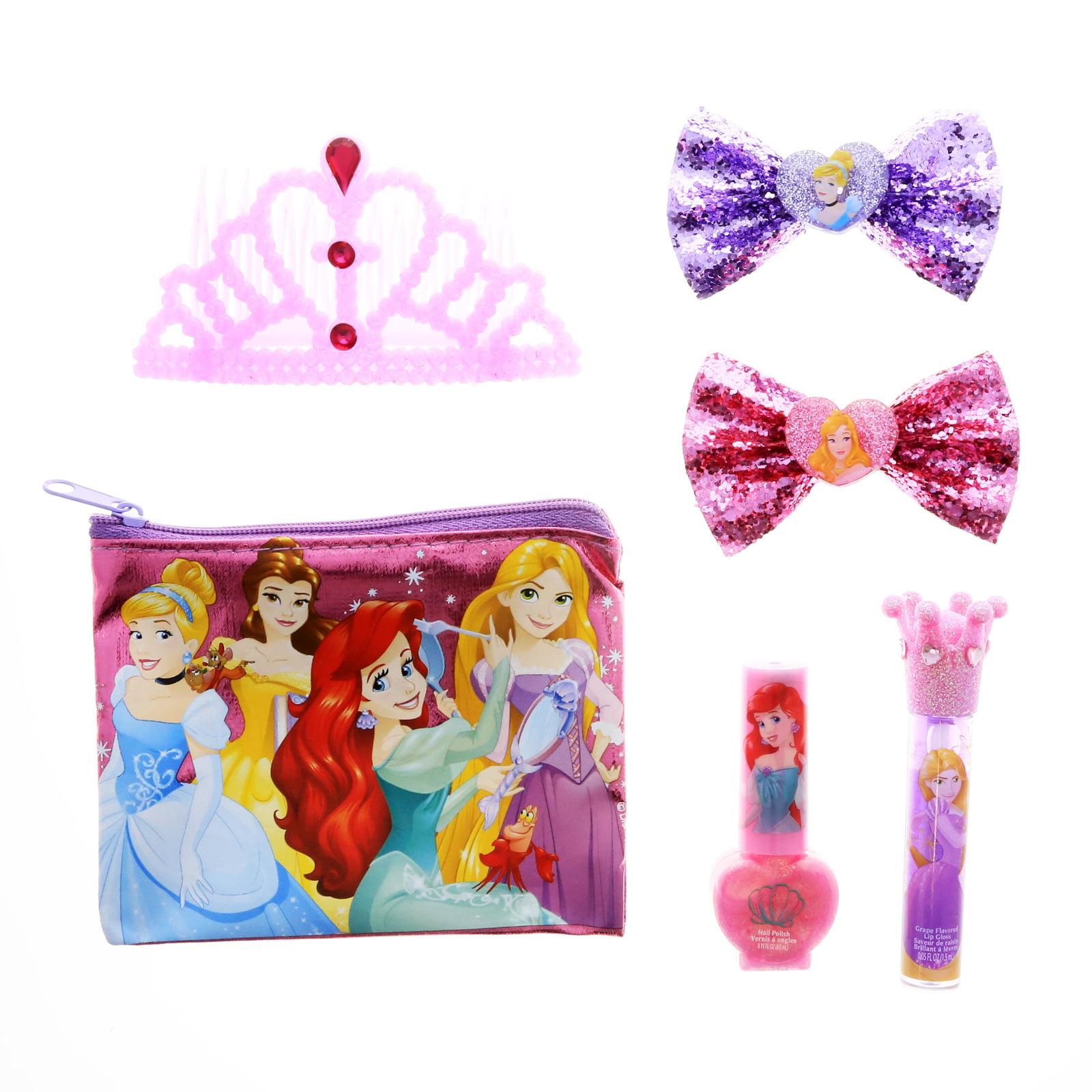 Disney Princess Girls Hair Clips Accessories Beauty Gift Set Cosmetics Makeup