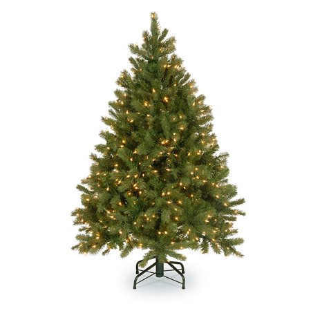 Douglas Fir Christmas Trees (National Tree 4.5' Artificial Downswept Douglas Fir LED Lights Christmas Tree )