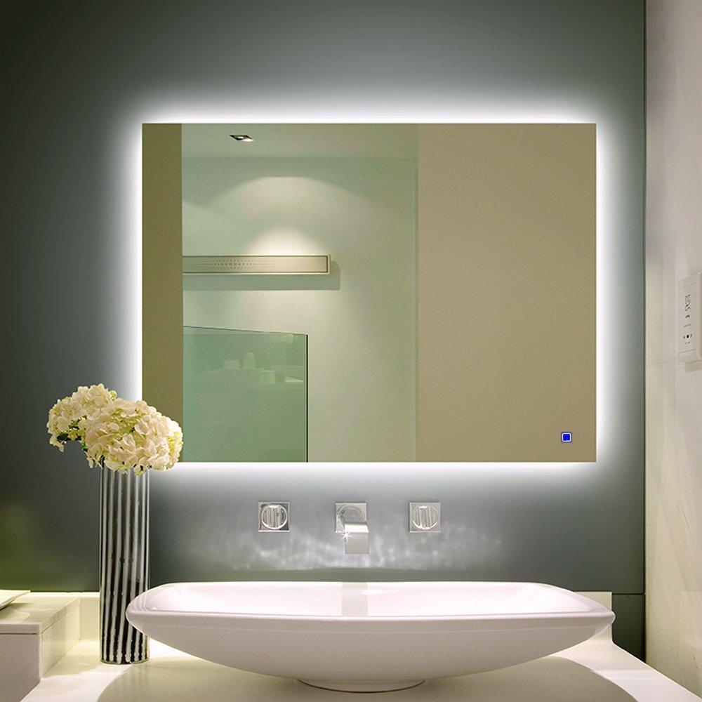 Led backlit mirror canada bathroom mirror led backlit for Where can i buy bathroom mirrors