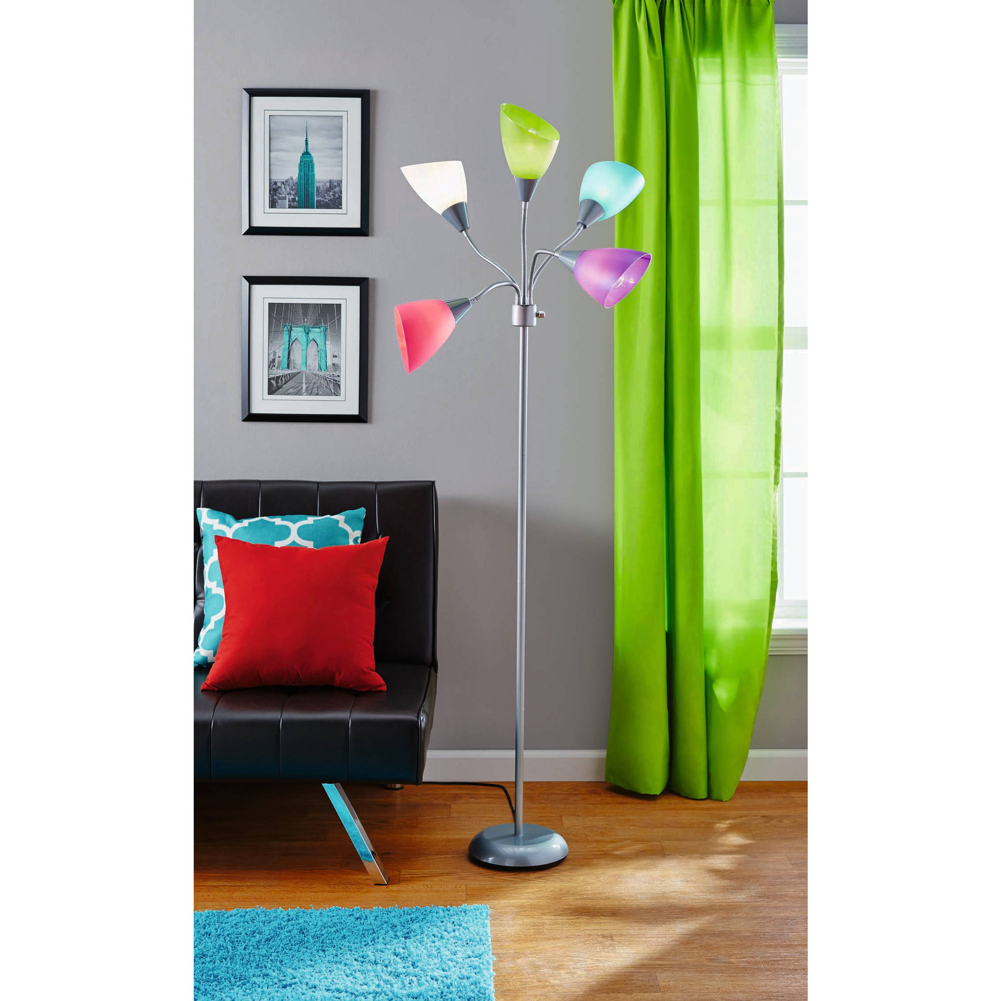 Mainstays Light Floor Lamp Walmartcom - Bedroom lamps at walmart