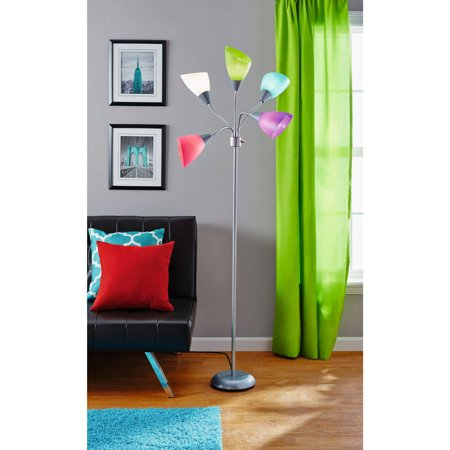 Your Zone 5 Light Floor Lamp Walmart Com