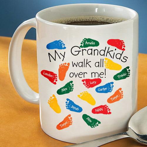 "Personalized ""Walks All Over Me"" Coffee Mug, 15 oz"