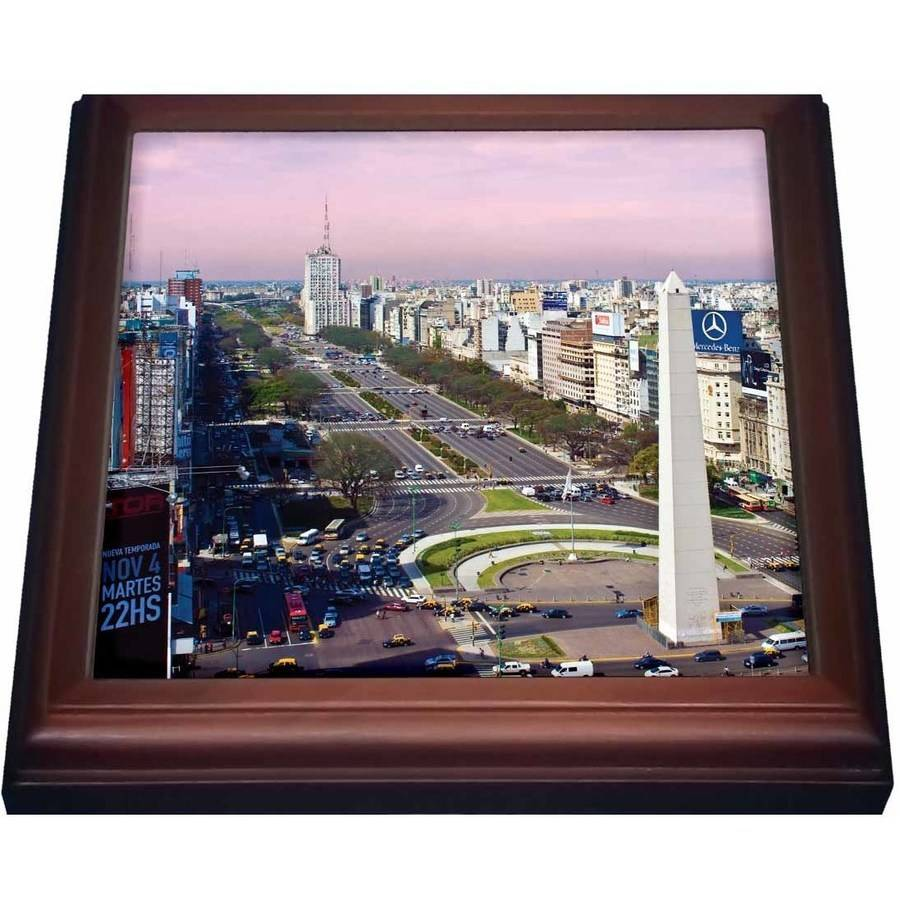 3dRose Argentina, Buenos Aires, Plaza de la Republica Obelisk SA01 MGL0003 Miva Stock, Trivet with Ceramic Tile, 8 by... by 3dRose