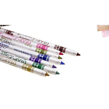 Wowlife Waterproof 12 Ultra Bright colors Durable Eyeliner Eyeshadow Lip Liner Eye Shadow Pen cosmetic Makeup Tools - image 4 of 4