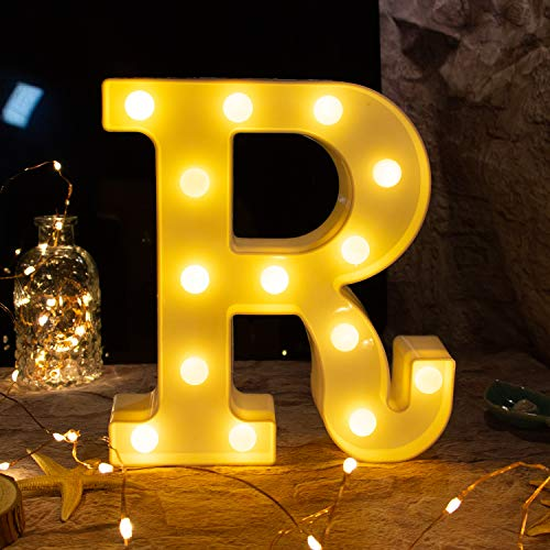 Letter light,26 Alphabet Light Up Marquee Letters Sign Battery Powered