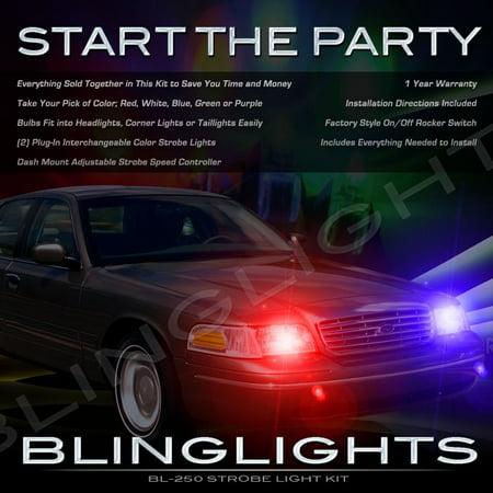 Ford Crown Victoria Strobe Police Lights Kit For Headlamps Headlights Head Lamps Strobes Light