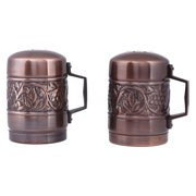 "Antique Embossed ""Heritage"" Stovetop Salt & Pepper Set"