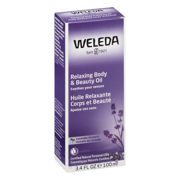 Weleda Relaxing Body & Beauty Oil, Lavender Extracts, 3.4 fl oz (100 ml)