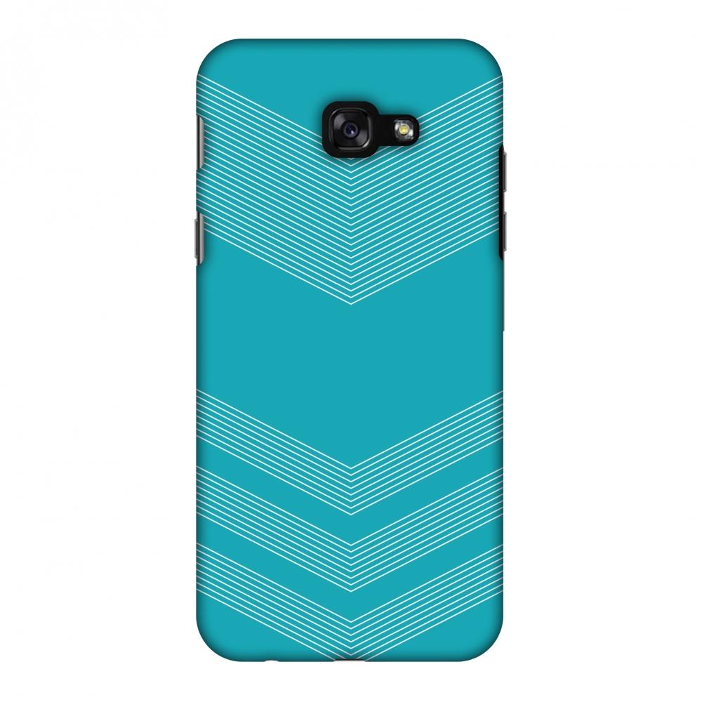 Samsung Galaxy A7 2017 Case, Premium Handcrafted Printed Designer Hard ShockProof Case Back Cover for Samsung Galaxy A7 2017 - Carbon Fibre Redux Aqua Blue 2