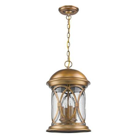 English Antique Outdoor Hanging Lantern (Acclaim Lighting Inc Lincoln 1533ATB Outdoor Hanging Lantern)