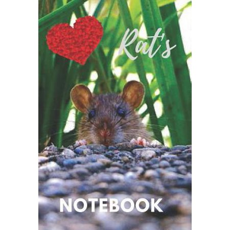 Rat Notebook : cute rats gift for children that love their pets (blank lined notebook) best for writing notes stories and ideas for home use work or as a school homework book for kids / notepad for girls / journal for journaling / rat