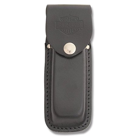 Case Cutlery Ca52098 Sheath Harley Leather With Harley Davidson Logo Hunting Knives  Large  Black