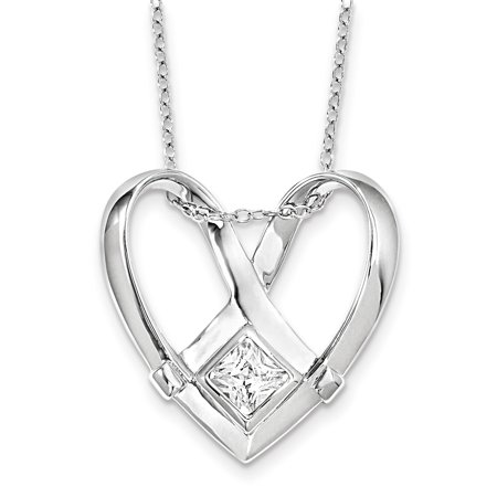Sterling Silver CZ Captivated 18in. Necklace 18 Inch - image 3 of 3
