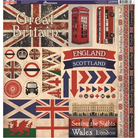 Great Britain Elements Sticker Sheet - Reminisce