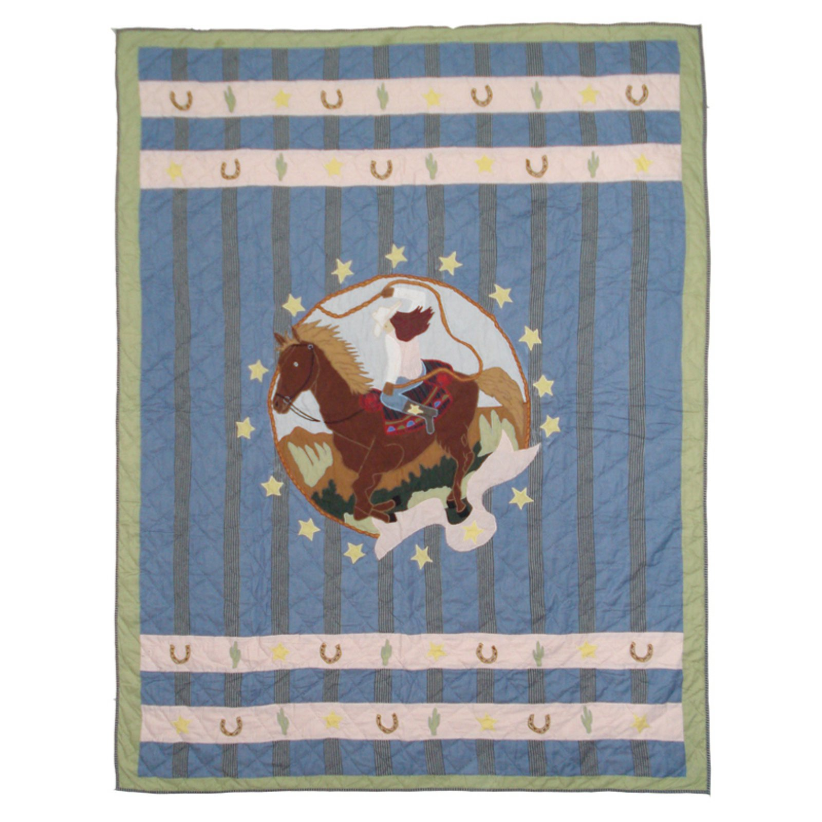 "Patch Magic Lil Yeeehaw Quilt Twin 65""X 85"""