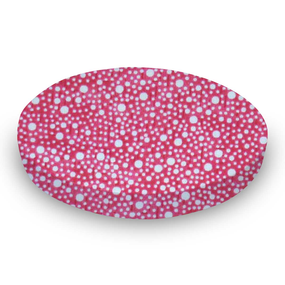 SheetWorld Fitted Oval Crib Sheet (Stokke Sleepi) - Confetti Dots Hot Pink