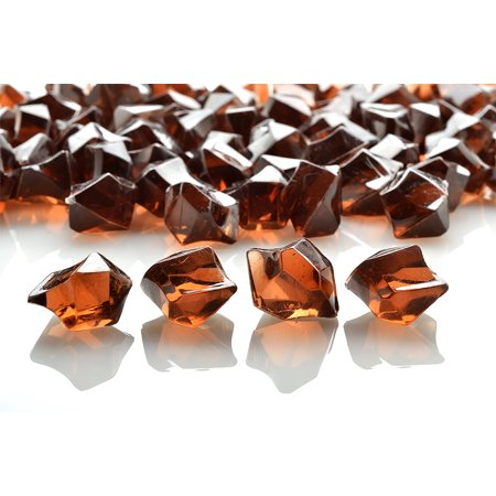 Quasimoon Brown Colored Gemstones Acrylic Crystal Wedding Table Confetti Vase Filler (3/4 lb Bag) by