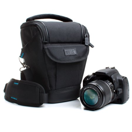 Weather Resistant Dslr Zoom Holster Carrying Case Bag With Adjustable Padded Shoulder Sling By Usa Gear  Medium Size    Works With Nikon D3300   Canon E0s Rebel T6   Panasonic Lumix Dmc Fz300 And More