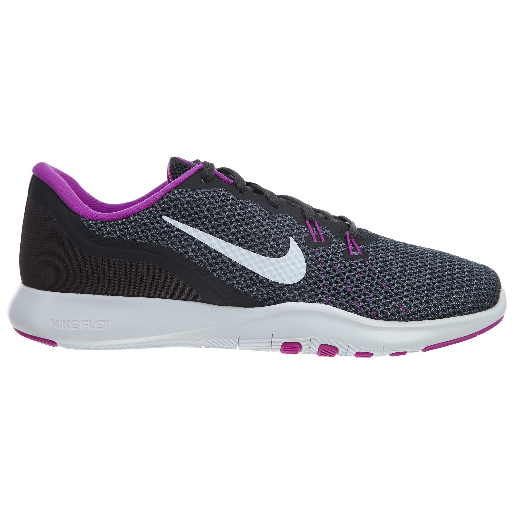 Nike Womens Flex Trainer 7 Anthracite/White/Dark/Grey Training Shoe 6.5 Women US