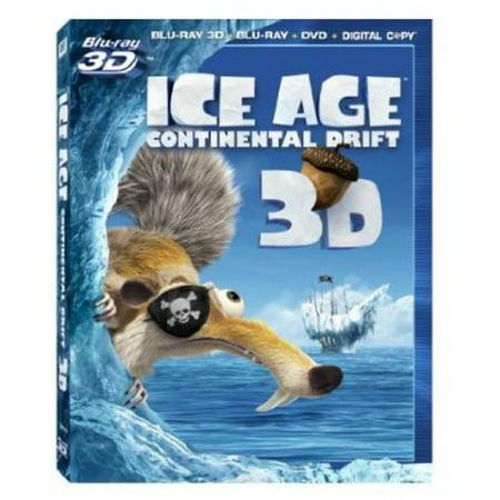 Ice Age 4: Continental Drift 3D (Blu-ray 3D + Blu-ray 2D + DVD + Digital