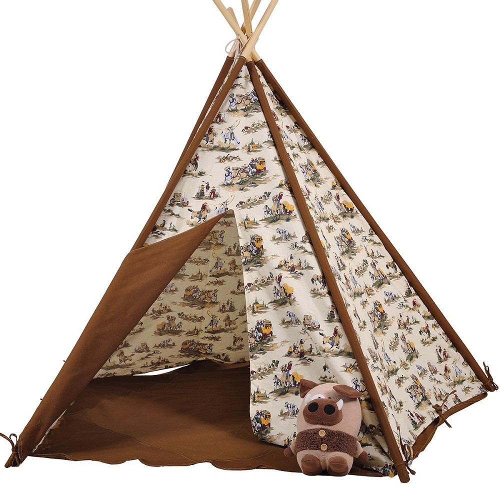 Dream House Indoor Cotton Canvas Cowboy Indian Teepee Ten...