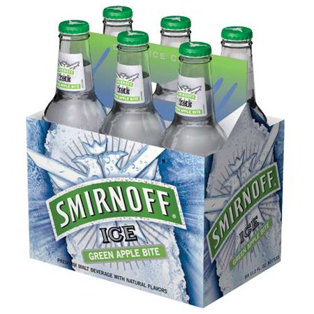 Smirnoff ice green apple cocktail 6 pack 12 fl oz for Green apple mixed drinks