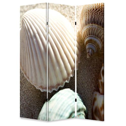 Screen Gems 72'' x 48'' Sea Shell 3 Panel Room Divider