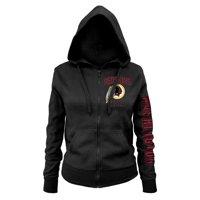 Product Image Washington Redskins New Era Women s Playbook Glitter Sleeve  Full-Zip Hoodie - Black 4c5062ed2