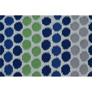 "The Rug Market Ikat Dot Blue 2.8"" x 4.8"" Area Rug"