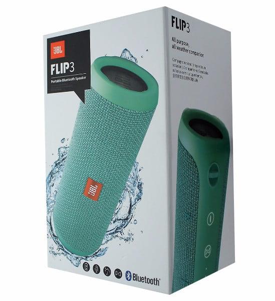 JBL Flip 3 Splashproof Portable Bluetooth Speaker (Teal)