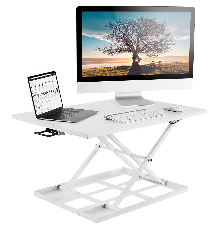"Mount-It! Height Adjustable Standing Desk Converter, 32"" Sit Stand Black (MI-7929BLK)"