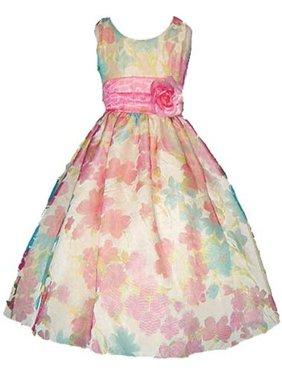 aeb6a726048 Product Image Good Girl Orange Burnout Floral Print Easter Dress Little  Girls 6M-12