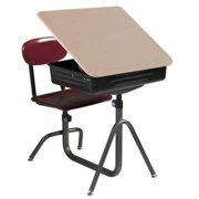 National School Lines Universal Lift Lid Combination Desk With 14-18 inch H Adjus