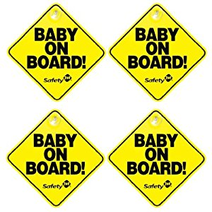 Safety 1st Baby On Board Sign, 4 Pack