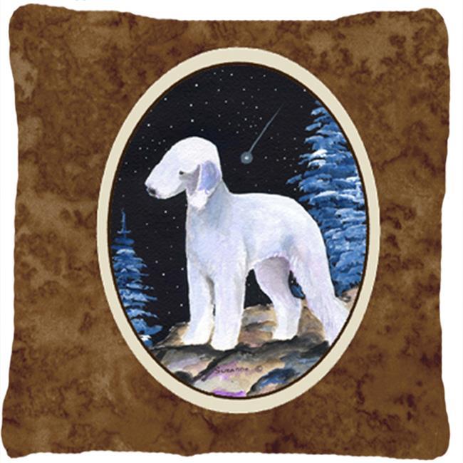 Carolines Treasures SS8455PW1414 Starry Night Bedlington Terrier Decorative Indoor & Outdoor Fabric Pillow - image 1 of 1