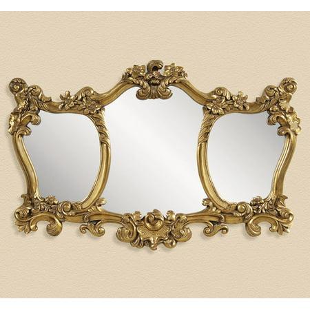 Bassett Old World Donatella Wall Mirror in Antique Gold Leaf