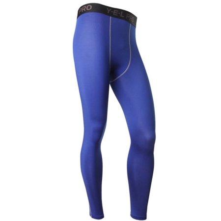 (Sweetsmile Mens Pants Running Long Leggings Fitness Sweat Pants For Men Blue Trousers Wicking Sportswear S-2XL)