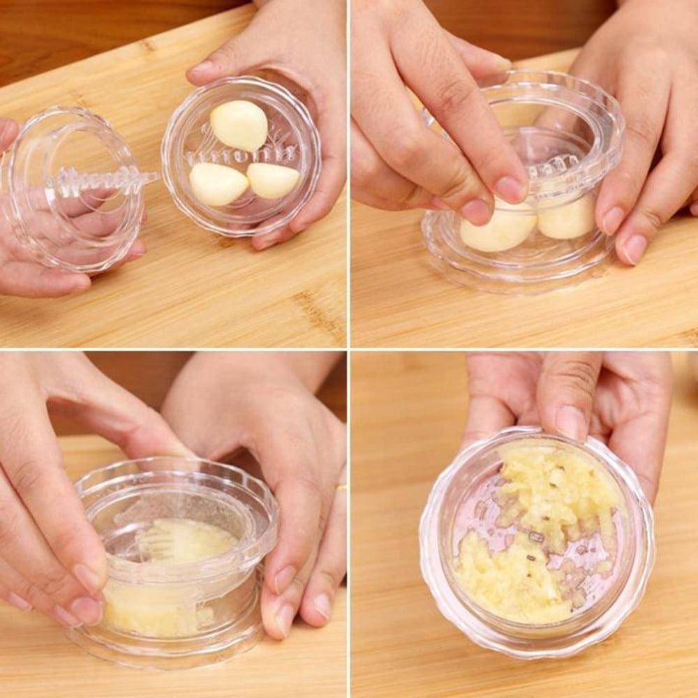 Mosunx 1pc Garlic Food Chopper Fruit Slicer Twist Mashed Garlic Manually Processor