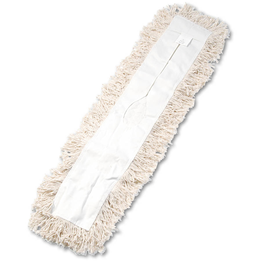 Boardwalk Industrial White Hygrade Cotton Dust Mop Head, 36 x 5