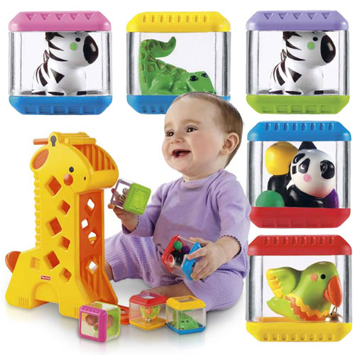 Fisher-Price Peek-a-Blocks Tumblin' Sounds Giraffe