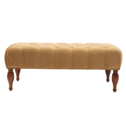 Lyon Tufted Entryway Accent Bench, Shimmer Gold