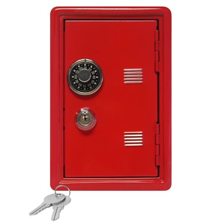 Kid's Coin Bank Locker Safe with Single Digit Combination Lock and Key - 7